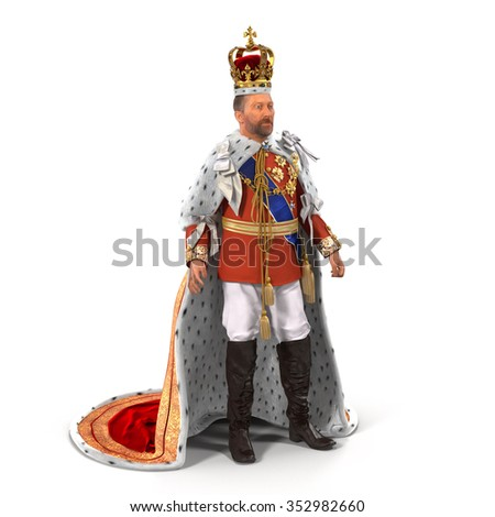 King on White Background