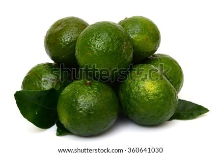 King Orange fruits on a white background - stock photo