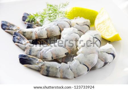 king prawns - stock photo