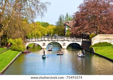 King's College in Cambridge (England) - stock photo