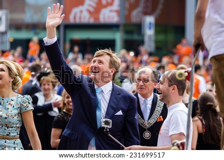 King Willem-Alexander of The Netherlands, King's Day, Amstelveen, 26/04/2014