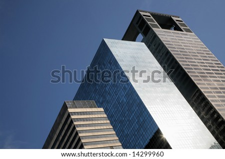 Kingdom of Skyscrapers in Houston, Texas, USA(Release Information: Editorial Use Only. Use of this image in advertising or for promotional purposes is prohibited.) - stock photo