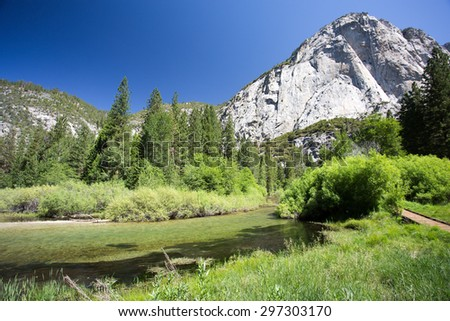 Kings Canyon National Park in Spring, California - stock photo