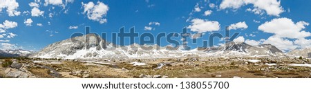 Kings Canyon National Park Panorama in the Sierra Nevada, California, USA - stock photo