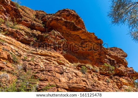 Kings Canyon rocks in outback Australia - stock photo