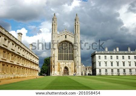 Kings College Chapel - Cambridge - stock photo