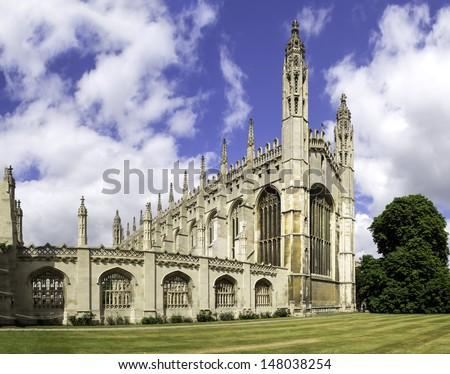 Kings college chapel Cambridge, UK - stock photo