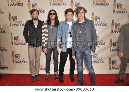 Kings of Leon at the 2009 MTV Movie Awards at Universal Studios Hollywood. May 31, 2009  Los Angeles, CA Picture: Paul Smith / Featureflash - stock photo