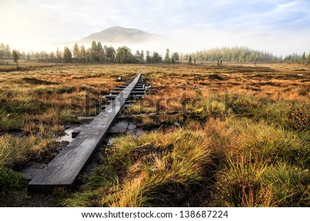 Kings way hiking trail in sweden - stock photo