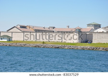 Kingston Penitentiary, a federal maximum security institution for offenders serving over 2 years in Kingston, Ontario in Canada - stock photo