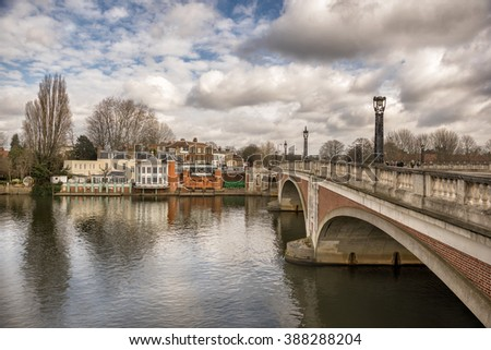 Kingston upon Thames in Surrey - stock photo
