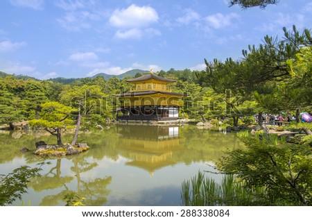 Kinkakuji Temple in Kyoto Japan - stock photo