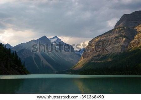 Kinney Lake, Mount Robson Provincial Park, British Columbia - stock photo