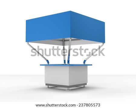 kiosk or booth for customizing. View from