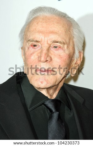 "Kirk Douglas at the EIF's Women's Cancer Research Fund's ""An Unforgettable Evening"" Benefit, Beverly Wilshire Four Seasons Hotel, Beverly Hills, CA. 01-27-10"