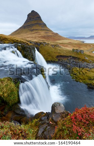 Kirkjufell in Iceland - stock photo