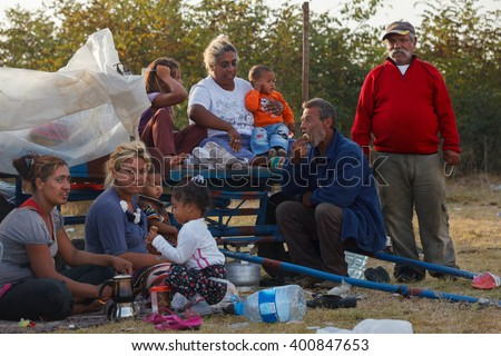 Kirklareli,Turkey-September 14 2012:Local and nomadic people meet in Pavli fair.It is a traditional fair and once in a year thousands of people visit. Culture of the fair is based on Gypsy lifestyle