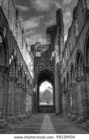 Kirkstall Abbey, Leeds - stock photo