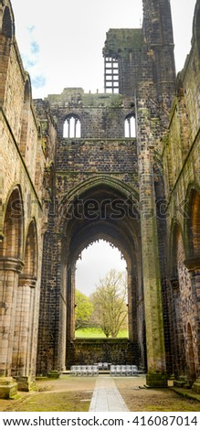 Kirkstall Abbey ruins in Leeds