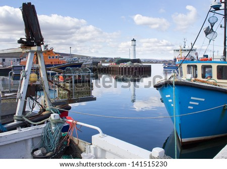 Kirkwall Harbour - stock photo