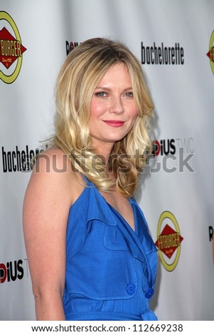 """Kirsten Dunst at the """"Bachelorette"""" Los Angeles Premiere, Arclight, Hollywood, CA 08-23-12 - stock photo"""
