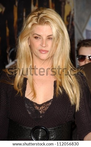 "Kirstie Alley at the world premiere of ""Wild Hogs"". El Capitan Theatre, Hollywood, CA. 02-27-07"