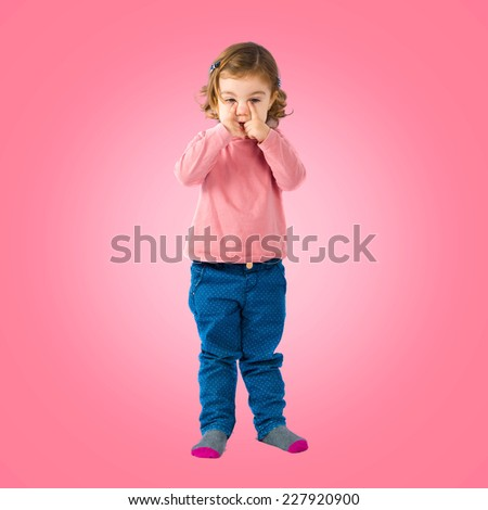 kis crying - stock photo