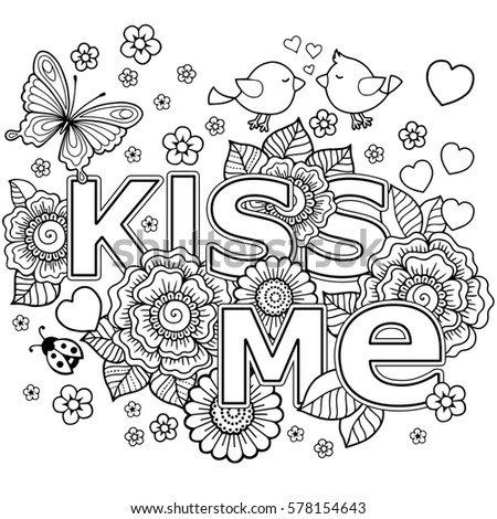 abstract coloring book for adult design for wedding invitations and valentines day - Abstract Coloring Books