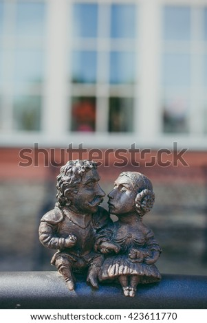Kiss sculpture - stock photo
