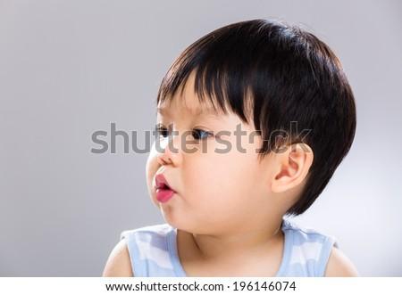 Kissing baby boy - stock photo