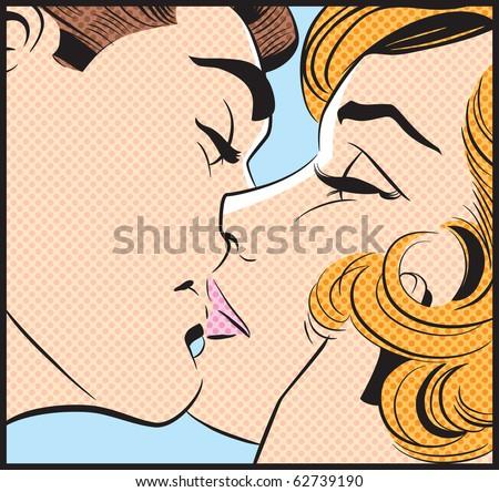 Kissing Couple III - stock photo