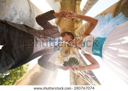 kissing moment - stock photo