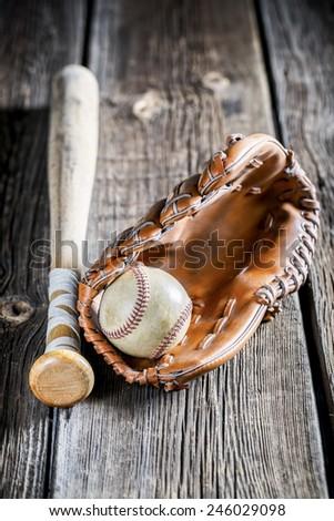 Kit to play baseball - stock photo