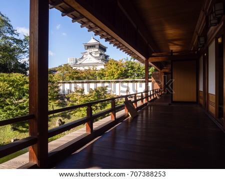 kitakyushu japan october 29 2016 view of kokura castle from traditional japanese - Traditional Castle 2016
