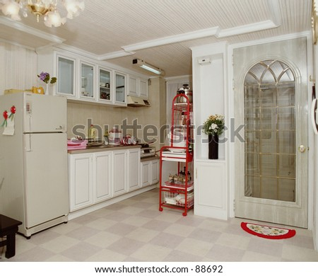 big kitchen cabinets colorful interior playroom 3d render photo stock 1648