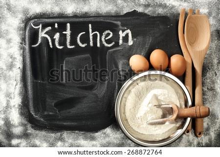 kitchen and dark space  - stock photo