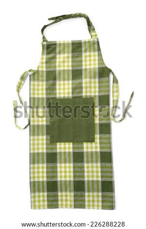 Kitchen apron on white background - stock photo