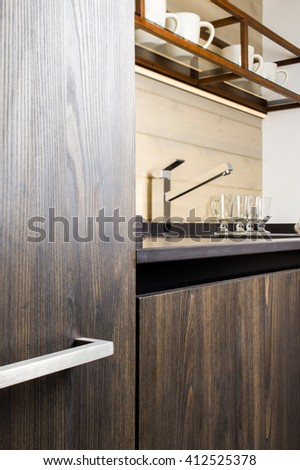 Kitchen Cabinet - stock photo