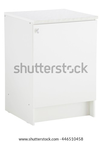 Kitchen cabinet isolated on white background. Include clipping path.
