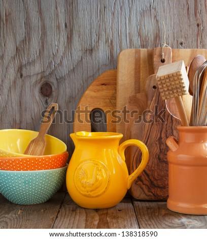 Kitchen cooking utensils - stock photo