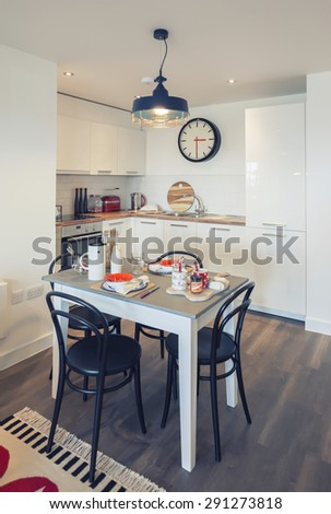 kitchen corner in living aria of flat