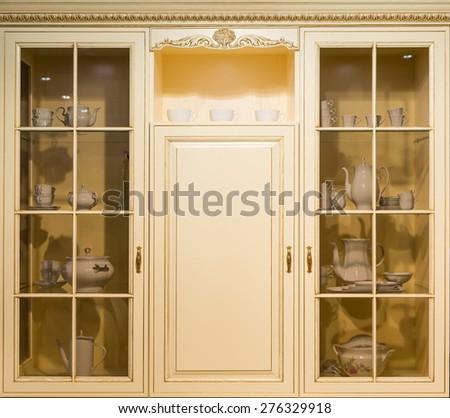 Kitchen cupboard  - stock photo