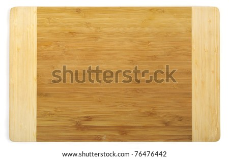 Kitchen cutting board made from bamboo, clipping path included - stock photo