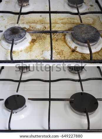 how to clean gas cooker