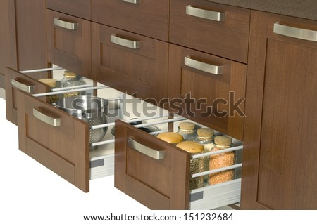 Kitchen drawer - stock photo
