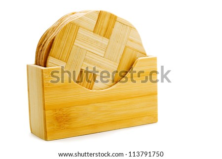 kitchen equipment made of wood, white background