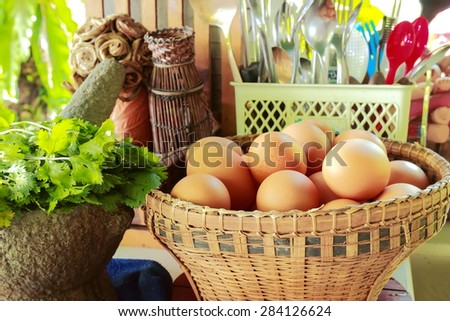 kitchen field,ingredients for cooking. - stock photo