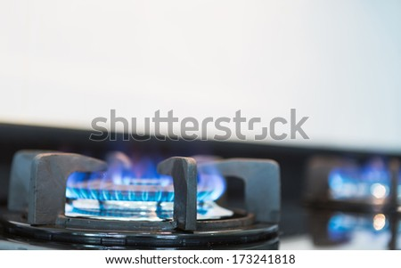 Kitchen gas stove - stock photo