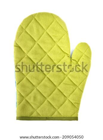 Kitchen glove on a white background - stock photo