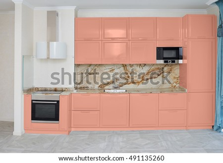 Kitchen in the style of minimalism
